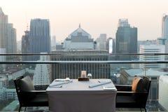 Restaurant lounge at hotel in bangkok city Stock Photo