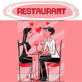 Restaurant lovers Stock Image