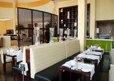 Restaurant in luxury hotel Royalty Free Stock Photos