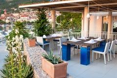 Restaurant Makarska Croatie de plage Images stock