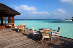Restaurant in Maldives Royalty Free Stock Images