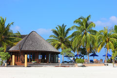 Restaurant in Maldives Royalty Free Stock Photography