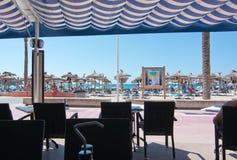 Restaurant Malgrat and people Royalty Free Stock Photo