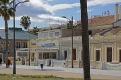 Restaurant on Malvarossa Beach. Valencia. Spain Royalty Free Stock Image
