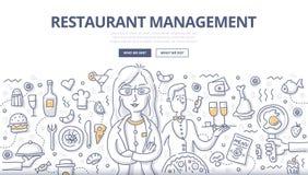 Restaurant Management Doodle Concept Stock Photography
