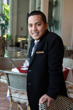 Restaurant manager. Posing at work smiling Royalty Free Stock Image