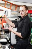 Restaurant manager bartender man at work place Stock Photography