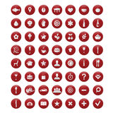 Restaurant And Map Icons Set. Vector Stock Photos