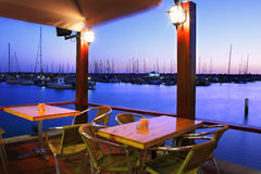 Restaurant on Marina. Royalty Free Stock Photography