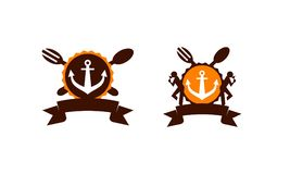 Restaurant Marine Anchor illustration stock