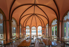 Restaurant in a mediterranean villa, France Royalty Free Stock Image