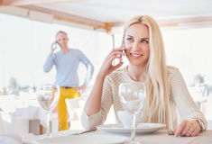 Restaurant meeting Royalty Free Stock Images