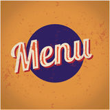 Restaurant-Menü-Karten-Entwurfsschablone. lizenzfreie abbildung
