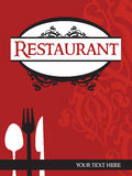 Restaurant menu. Restaurant red menu with accessories Royalty Free Stock Photo