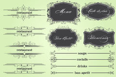 Restaurant menu Stock Photo