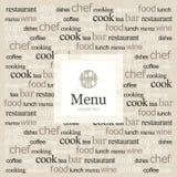 Restaurant menu Royalty Free Stock Photo