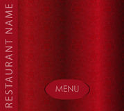 Restaurant menu. On red flower background Royalty Free Stock Photos