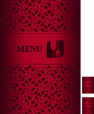 Restaurant menu. Vector illustration depicting the cover of the restaurant menu Stock Images