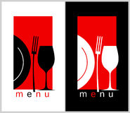 Restaurant menu. Restaurant Menu Card Design template. Long format Royalty Free Stock Photos