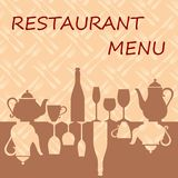 Restaurant menu background Royalty Free Stock Image