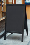 Restaurant menu blank board. On the street Royalty Free Stock Images