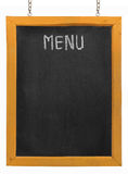 Restaurant menu board on blackboard Royalty Free Stock Photos