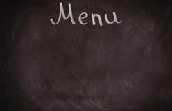 Restaurant menu board on blackboard. isolated over Stock Photography