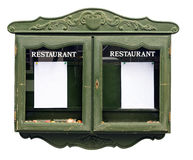 Restaurant menu cabinet Stock Photo