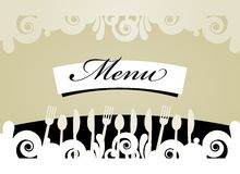 Restaurant Menu Card. Cute design of menu template card. Vector illustration Royalty Free Stock Image