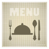 Restaurant Menu card design template Royalty Free Stock Photography