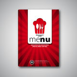 Restaurant Menu Card Design template, Brochure book cover Stock Photo