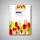 Restaurant Menu Card Design template, Brochure book cover design Royalty Free Stock Photography