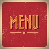 Restaurant Menu Card Design template. Restaurant Menu Card Design template grunge Royalty Free Stock Photo