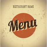 Restaurant menu card vintage template Royalty Free Stock Photography