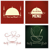Restaurant Menu Cards Design Template Editable Royalty Free Stock Photography