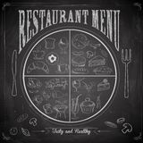 Restaurant Menu Chalk board royalty free illustration