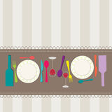 Restaurant menu concept design. Vector illustration of retro style restaurant menu concept design Stock Photo