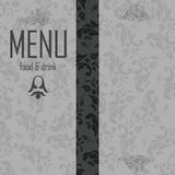 Elegant restaurant menu design Royalty Free Stock Photos