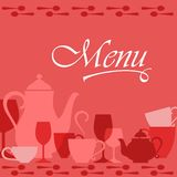 Restaurant menu cover Stock Images