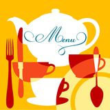 Restaurant menu cover Royalty Free Stock Images