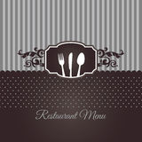 Restaurant menu cover in chocolate brown. This image is an illustration Royalty Free Stock Photography