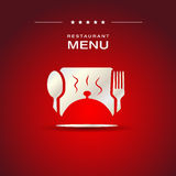 Restaurant menu cover design Stock Image