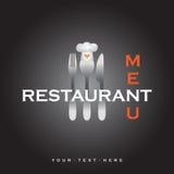 Restaurant menu cover design - vector template Stock Photos