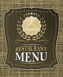 Restaurant menu cover design in vintage style Stock Images