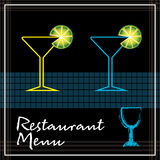 Restaurant menu Royalty Free Stock Images