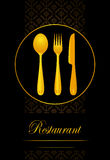 Restaurant menu with curtely Royalty Free Stock Photography