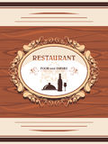 Restaurant menu. Decorative label for design Royalty Free Stock Image