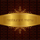Restaurant menu design 02. Studied the traditional pattern of the eastern restaurant menu Royalty Free Stock Photography