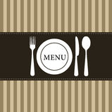 Restaurant menu design Stock Photos