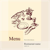 Restaurant menu design. Vector available Royalty Free Stock Images